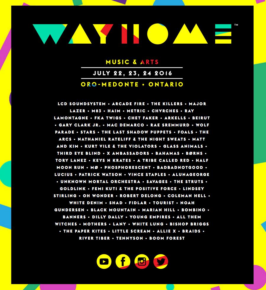 2016 WayHome schedule