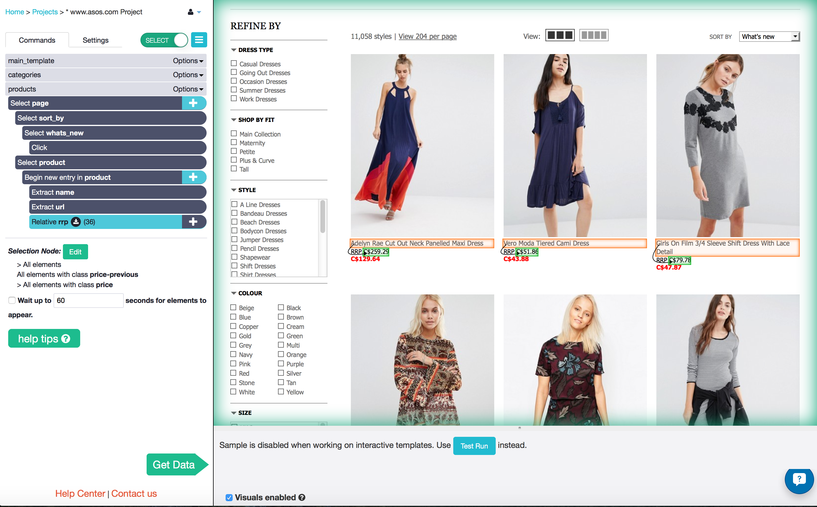 Portia vs parsehub which alternative is better for web scraping using relative select to get the rrp baditri Images