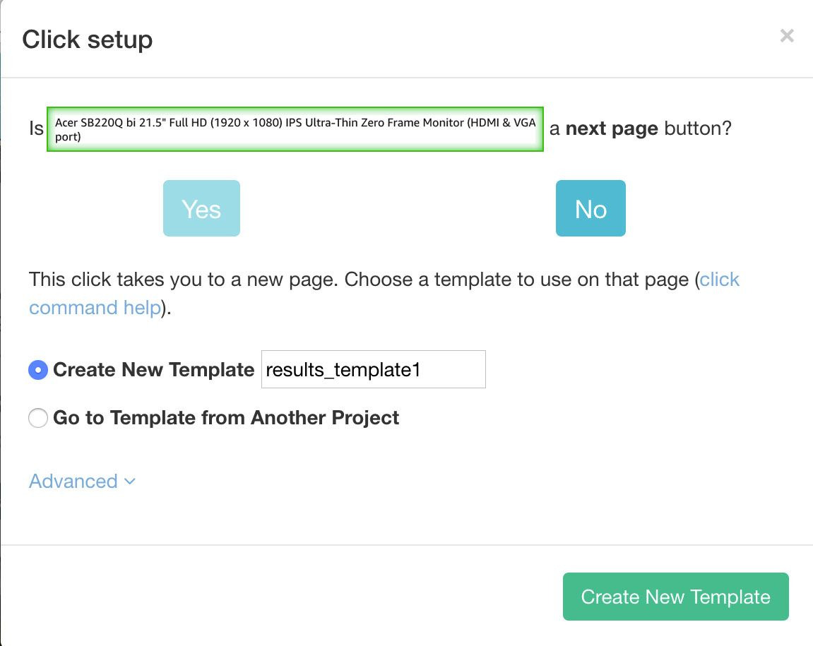 Pop up window dealing with pagination for Amazon
