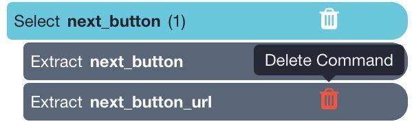 deleting next button URL