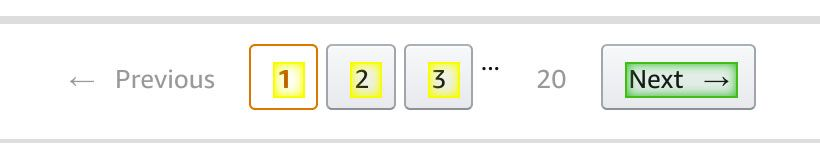 Selecting Amazon's next button for pagination