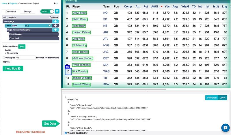 How to Use a Web Scraper to Extract Sports Stats and Data | ParseHub