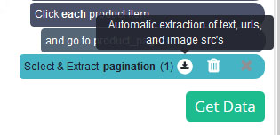Expand Pagination by clicking on the icon