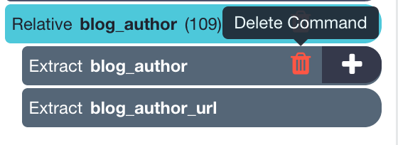 Deleting image url from blog author extraction